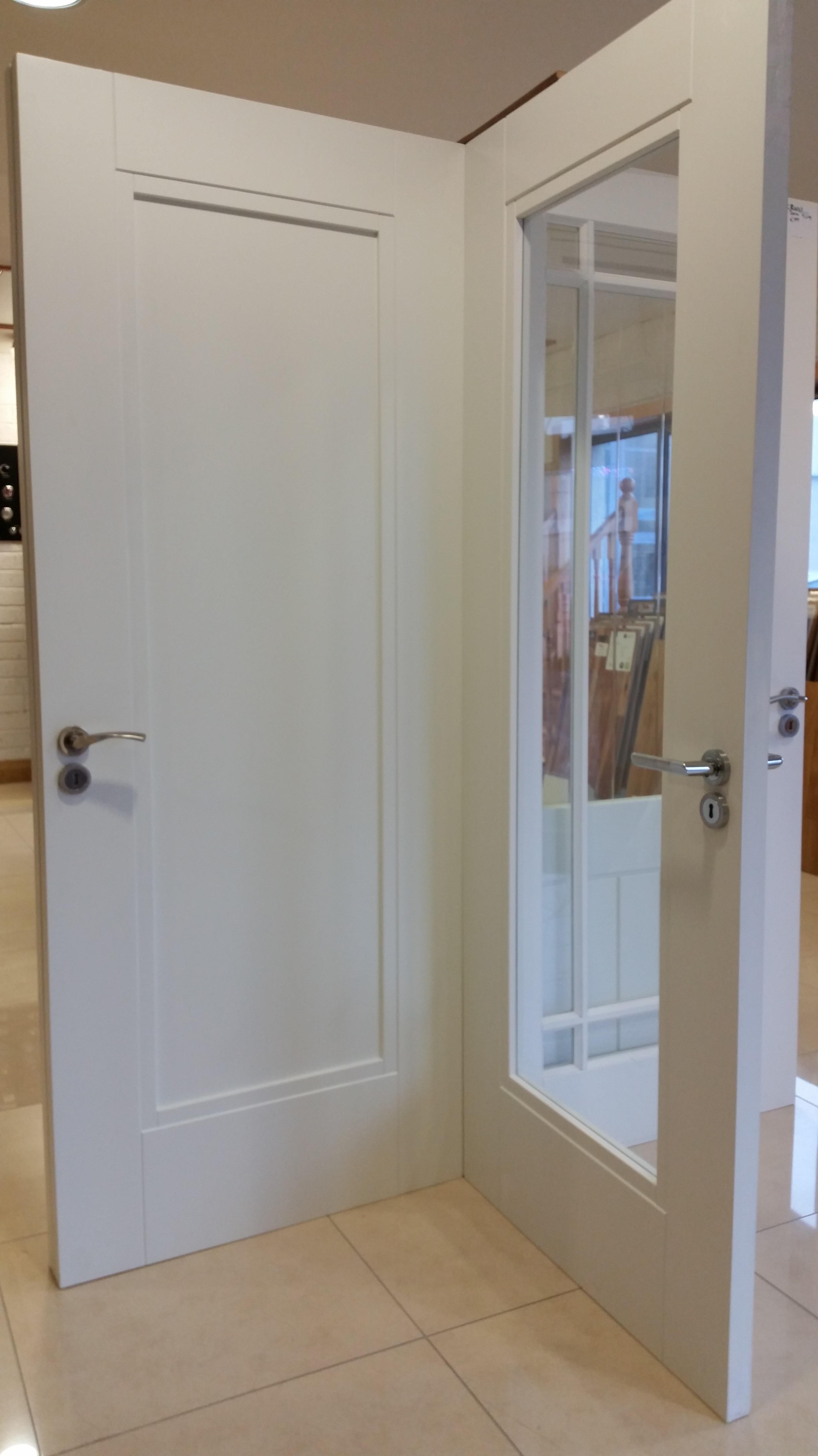Primed solid internal doors at our Tramore showrooms. & Internal Doors | Murphy Larkin
