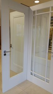 Interal Primed doors at our Waterford showrooms