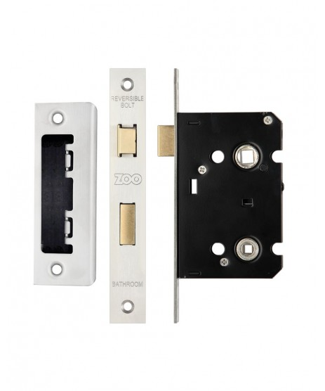 Zoo Hardware 3 Lever Bathroom Lock 2.5""