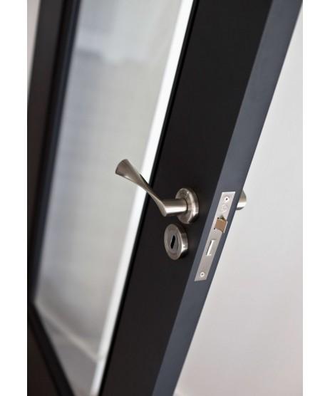 Doras Florence Satin Polished Chrome Door Handle