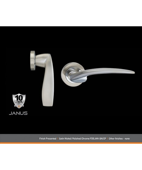 Fortessa Janus Satin Polished Chrome Door Handle