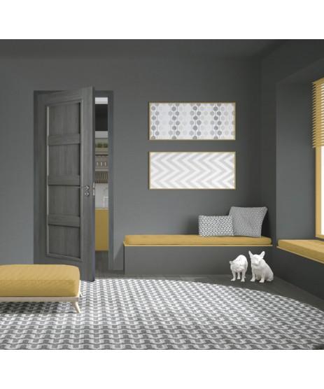 Doras Daiken Grey 4 Panel Door