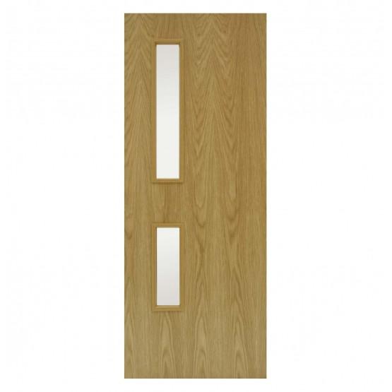 Doras Oak GC05 Glazed FD30 Fire Door