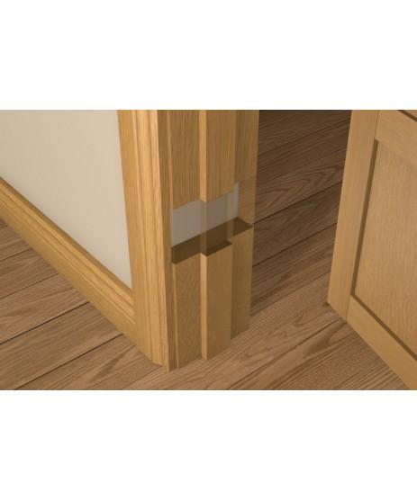 Solid Oak Door Liner (inc Square Door Stop)