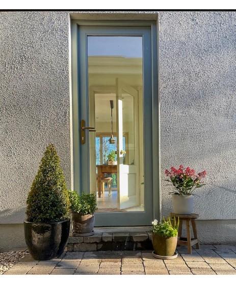 External Door Mahogany Timber Shaker Glazed (005) The Malin