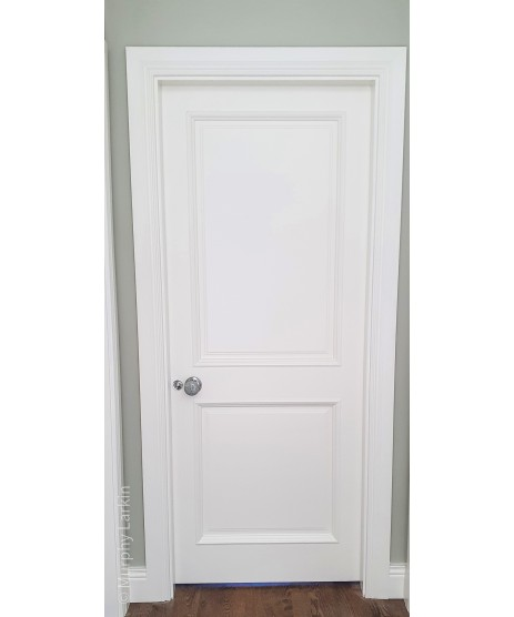 2 Panel Fire Door Bolection Primed Door