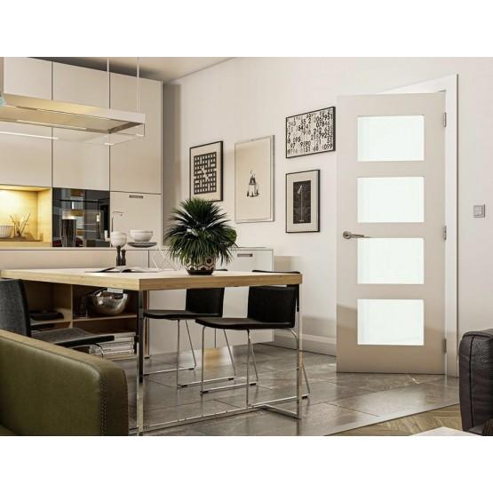 Deanta HP1G Primed White Door Clear Glass