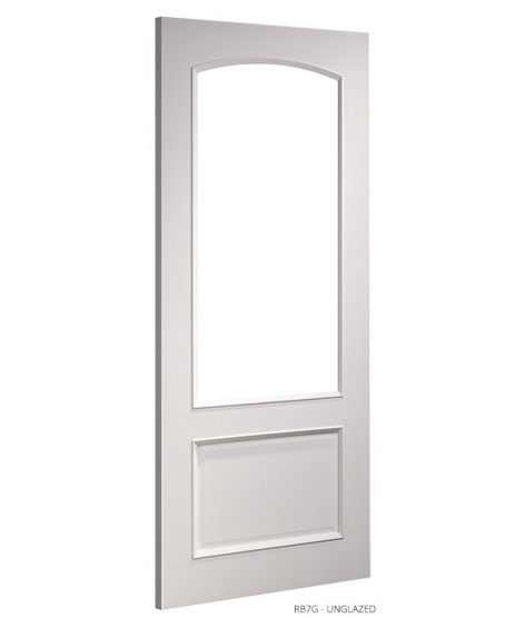 Deanta RB7G Unglazed Primed White Door