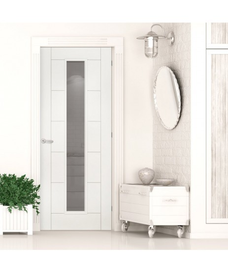 Deanta HP16G Primed White Door (Unglazed)