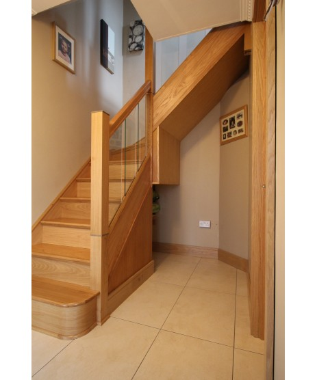 Single Oak Bullnose Step