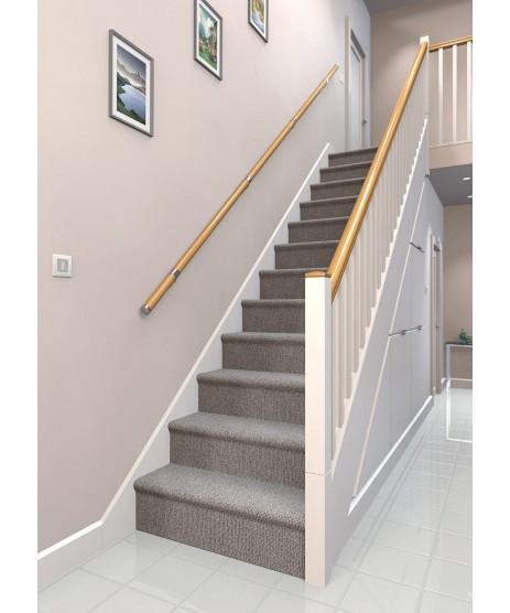 Wall Mounted Stair Oak Handrail Kit