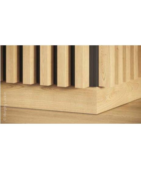 Vertical Wall Panelling Oak & Black Pack