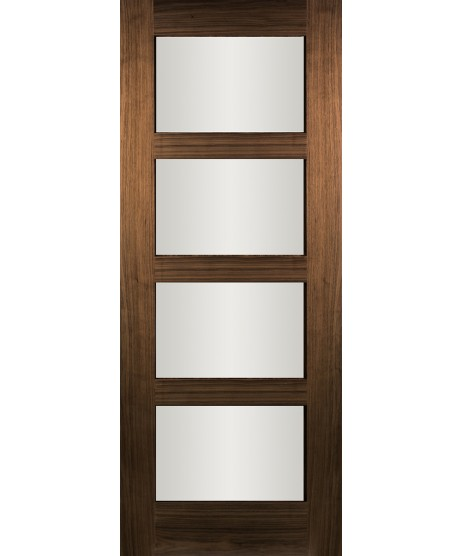 Columbus Walnut Clear Glass Door