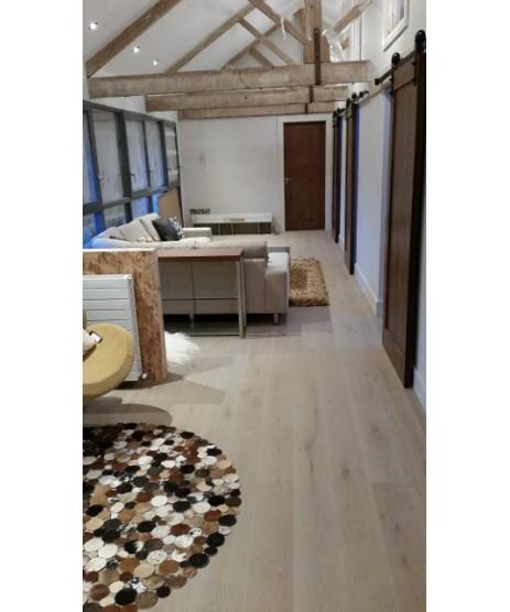 HARO Parquet 4000 Plank 1-Strip Oak Sand Brown Limewashed 4V brushed