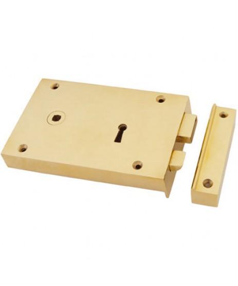 Anvil Brass Left Hand Rim Lock - Large (83585)