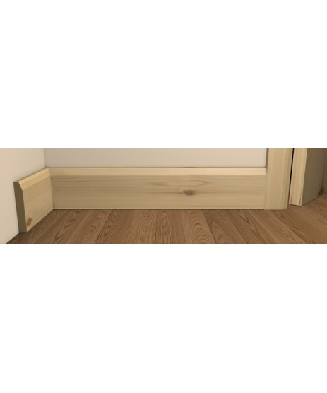 Redwood Pine Chamfered Skirting