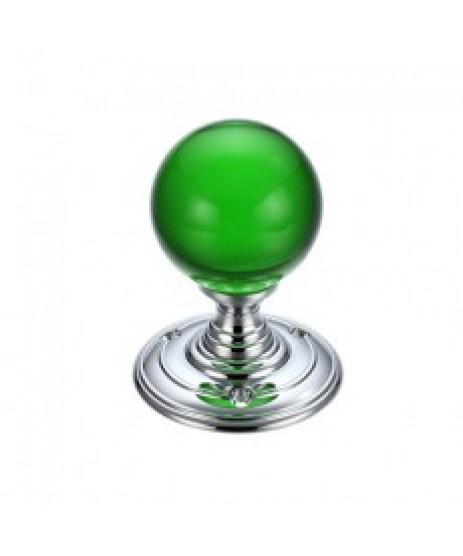 Zoo Hardware FB300 CPP Glass Ball Mortise Door Knob