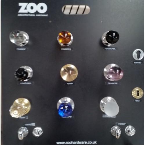 Zoo Hardware Fb300 Glass Ball Mortice Door Knob