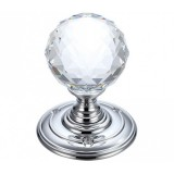 Zoo Hardware FB301 Facetted Glass Mortice Door Knob