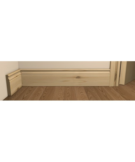 Redwood Pine Ogee Skirting Board