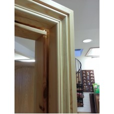 Red Deal Door Frame & Architrave Set Pre Finished