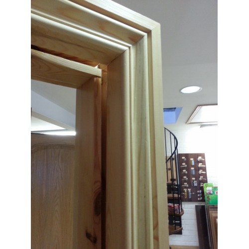 Red deal door frame architrave set pre finished for Door architrave