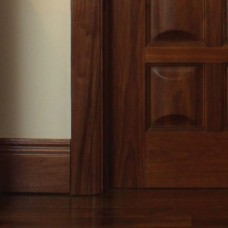 "Walnut Moulded Skirting 6"" (Engineered)"