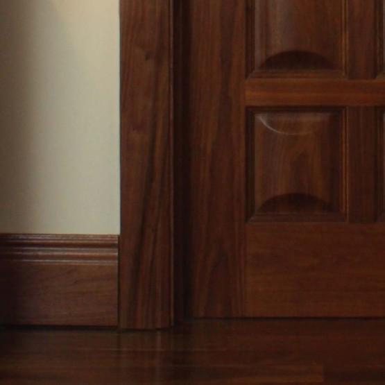 "Deanta Walnut Moulded Skirting 6"" (Engineered)"