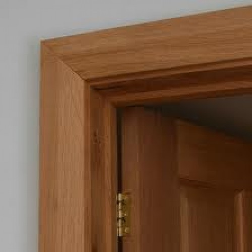Oak frame architrave chamfered set engineered for Door architrave