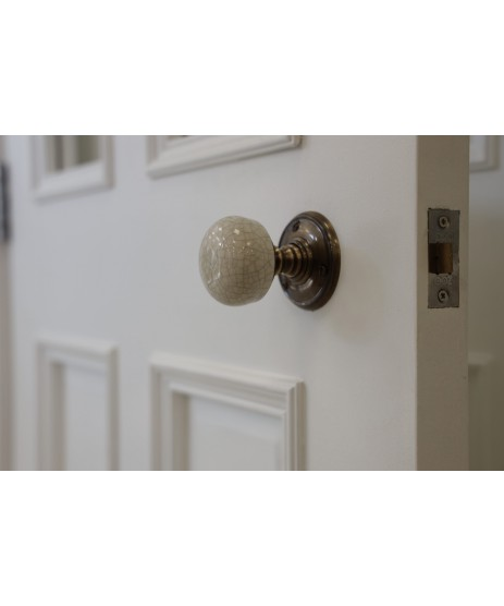 Crackle Porcelain Bronze Door Knob