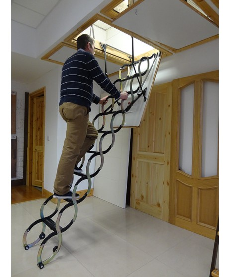 Deluxe Attic Stairs (Ideal for High Ceilings)