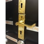 Classic Polished Brass Door Handle