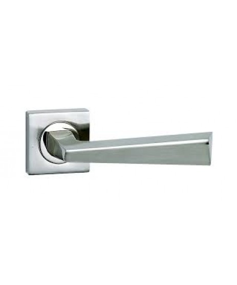 Fortessa Cannes Satin Nickel Lever On Rose Door Handle