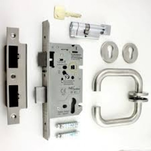 Fire Door Lock And Handle Set Incl Hinges