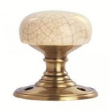 Carlisle Brass DK34ICFB Delamain Crackle Porcelain Bronze Door Knob
