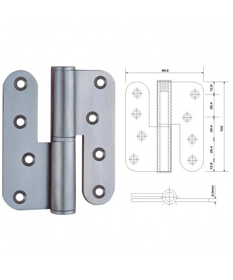 Stainless Steel Lift-Off Hinges1433 S/S
