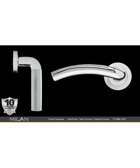 Fortessa Milan Satin Polished Chrome Door Handle
