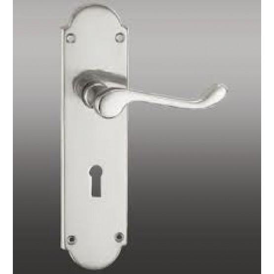 Fortessa Roman Polished Chrome Door Handle