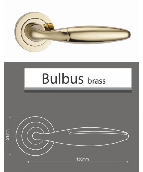 Fortessa Bulbus Satin Nickel Door Handle