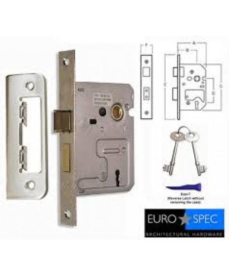 """Eurospec 2 Lever Mortice Lock 2.5"""" Lock"""