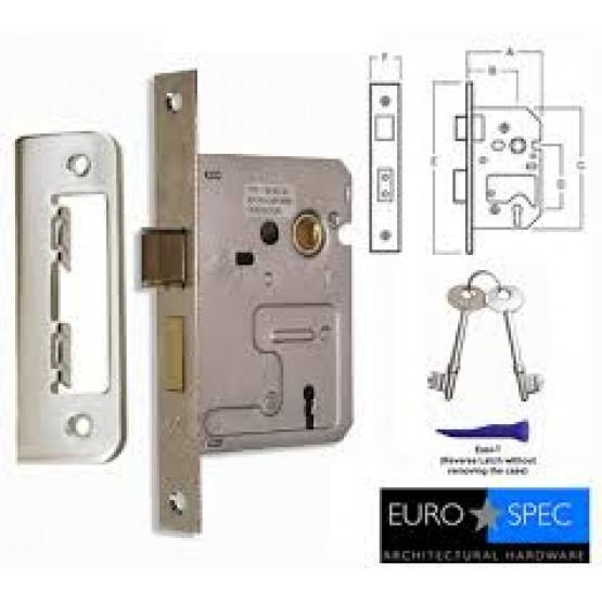 """Eurospec 2 Lever Mortice Lock 3"""" Lock"""