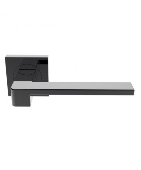 Serozzetta SZM370BN Black Nickel Door Handle with Escutcheon's