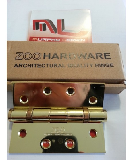 Ball Bearing Brass Hinges Pair (ZOO)
