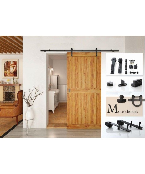 Rustic 100 Barn Door Sliding Rail Set 3M