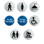 Stainless Steel Door Signs 75mm diameter