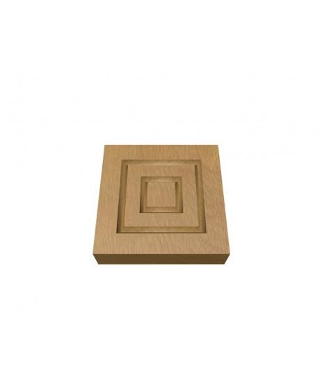 Oak Corner Block Double Square 30 x106MM (x4)
