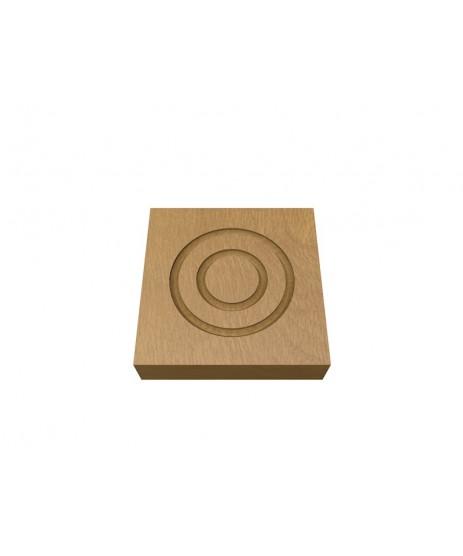 Oak Corner Blocks-Double Circle 30 x106MM (x4)