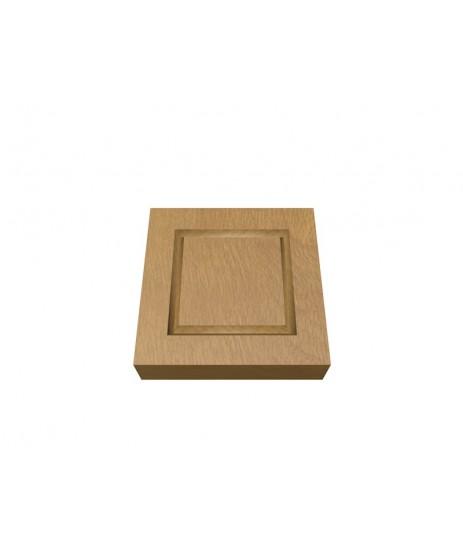 Oak Corner Block Single Square 30 x106MM (x4)