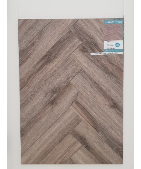 Herringbone Volcanic Oak 12mm Laminate Flooring