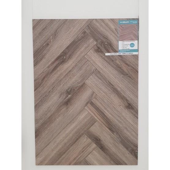 Herringbone Volcanic Oak 12mm Laminate Flooring